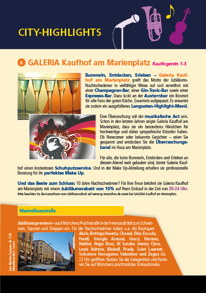 d773f8abd247d Galeria Kaufhof am Marienplatz - Rabattaktion